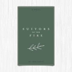 Vector of novel cover with suitors of the fire text / 