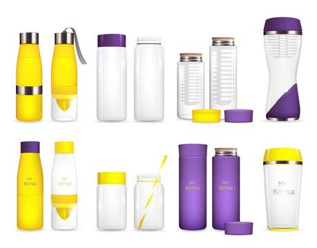 Water Cooler Bottles Set