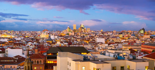 Madrid panoramic view, Spain