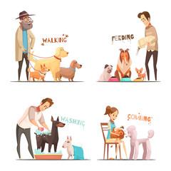 Dog Concept Icons Set