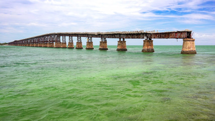 Abandoned Bahia Honda Rail Bridge in Lower Florida Keys