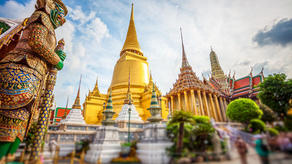 Poster Bangkok Wat Phra Kaew, Temple of the Emerald Buddha, Grand Palace, Bangkok, Thailand
