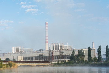 nuclear power station building