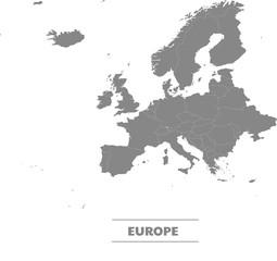 Vecteur modifiable carte continent Europe