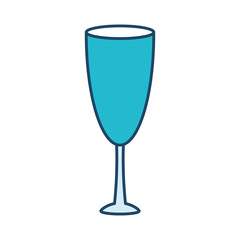 champagne glass icon over white background vector illustration