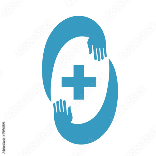 medic cross icon pharmacy logo template stock image and royalty