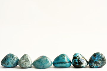 Stones turquoise crystals
