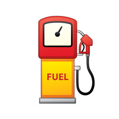 Fuel pump vector isolated. Gas filling station icon.
