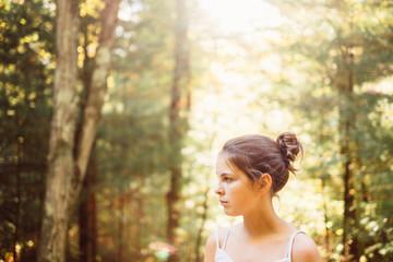 teen in the Autumn light