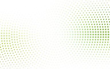 Light Green, Yellow vector banner set of circles, spheres.