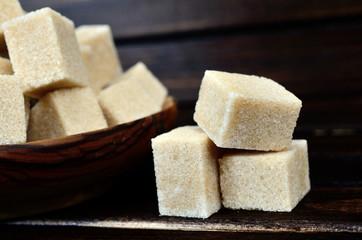 sugar cube on table