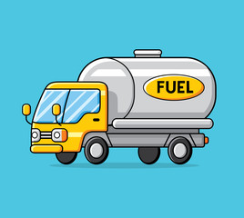 Fuel truck vector isolated.