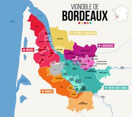 Carte Vignoble de Bordeaux