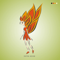 butterfly logo vector illustration, queen angel