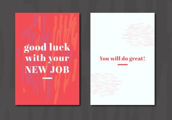 New Job Greeting Card Layout 1