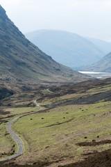 Panoramic view of Three Sisters in Glencoe, Scotland