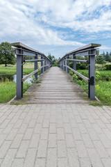 footbridge over a small river