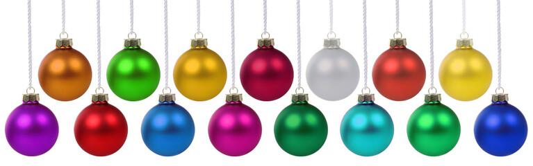 Weihnachtskugeln Weihnachten Banner Weihnachts Kugeln Dekoration hängen Freisteller