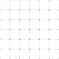 Obraz Abstract seamless pattern background. Regular linear grid of solid lines with dots in the cross points. Vector illustration. - fototapety do salonu