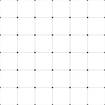 Abstract seamless pattern background. Regular linear grid of solid lines with dots in the cross points. Vector illustration.