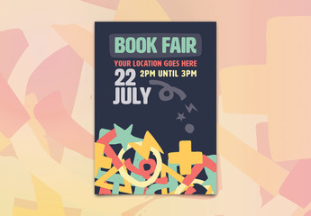 Book Fair Event Poster Layout 1