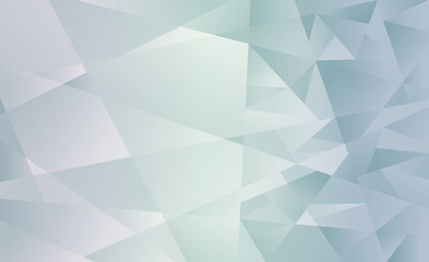 Abstract multicolored Green polygonal background. Vector