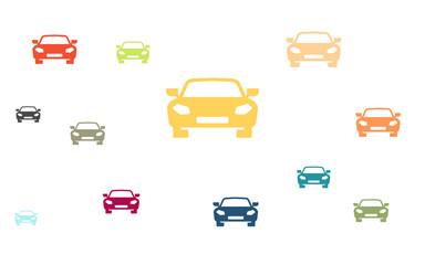 Viele bunte Autos - Sportwagen