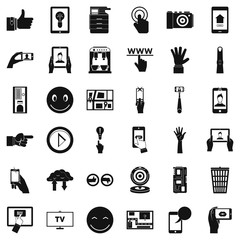 Information icons set, simple style