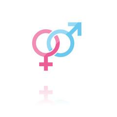 farbiges Symbol - Geschlechter