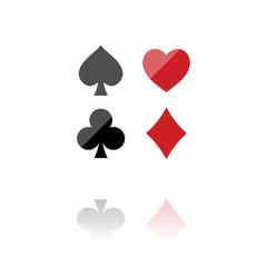 farbiges Symbol - Spielkarten-Symbol
