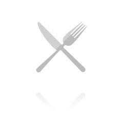 Reflektierendes Symbol mit Glanz - Restaurant-Symbol