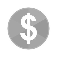 Kreis Icon - Dollarzeichen dick
