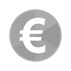 Kreis Icon - Eurozeichen dick