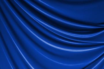 青 カーテン