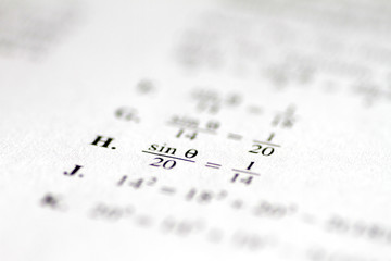 Illustration photo of an ACT practice test
