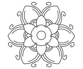 Thai mandala pattern vector design.