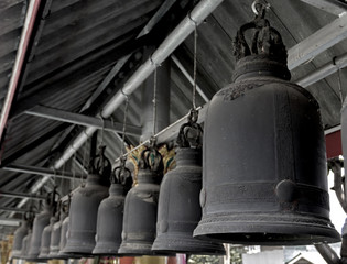 acient bell in thailand temple