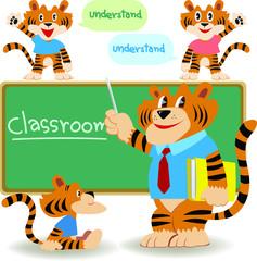 Classroom teacher,tiger teacher teach student