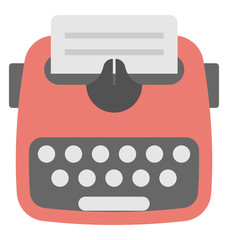 Typewriter Vector Icon