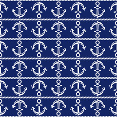 Seamless pattern with anchors. Ongoing backgrounds of marine theme.