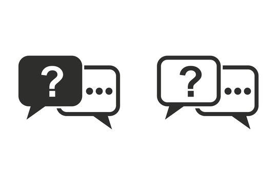 Answer vector icon.