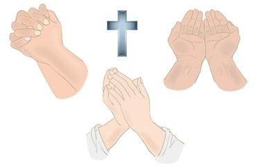 祈りの手3セット・カラー