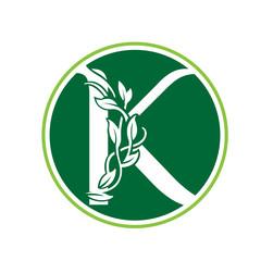 Green Loop Nature Letter K Circle Logo