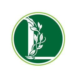 Green Loop Nature Letter L Circle Logo