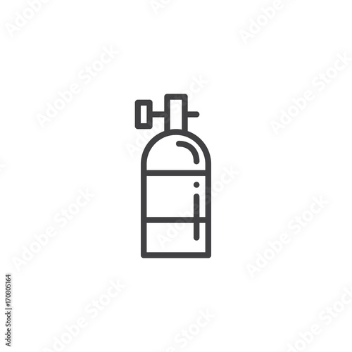 Oxygen Tank Line Icon Outline Vector Sign Linear Style Pictogram