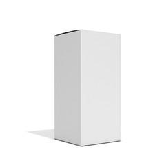 White square box on a white background. 3D illustration