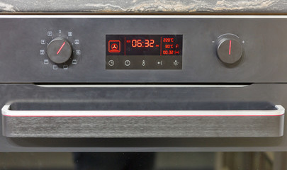 electric oven display closeup