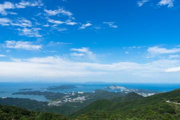 伊勢志摩スカイラインの朝熊山頂展望台から見る景色
