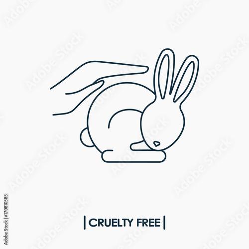 Animal Cruelty Free Logo Not Tested On Animals Symbol Rabbit In