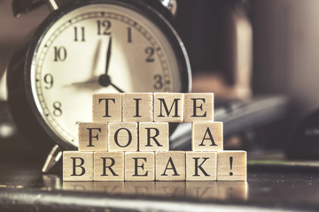 Time for a break concept Fotomurais